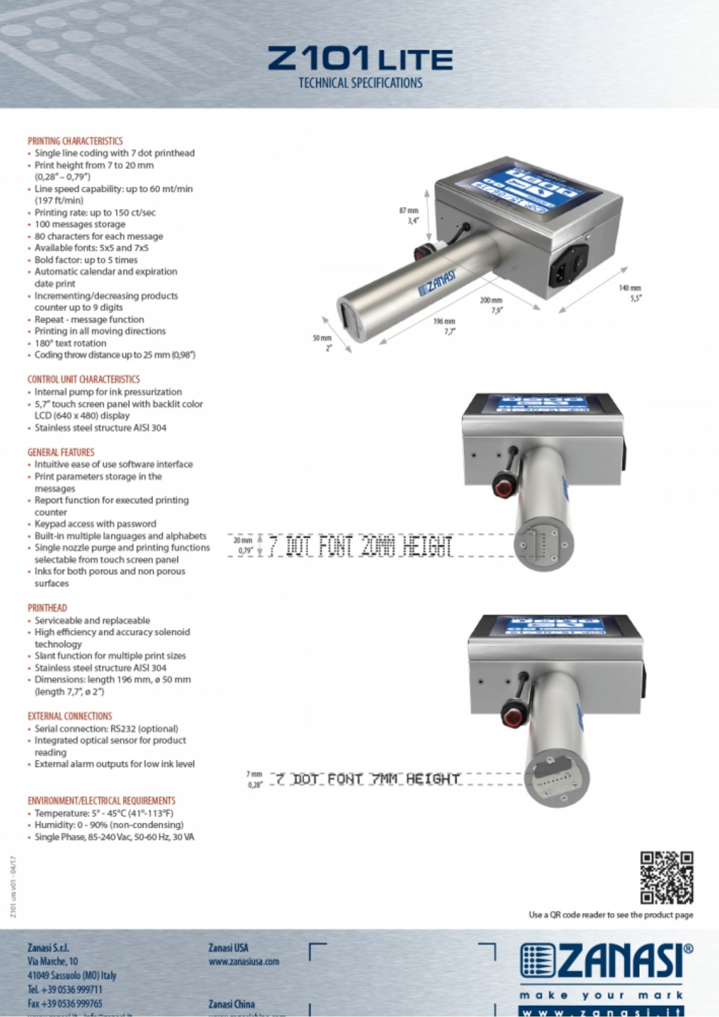 Z1010 DOD tulostin tekniset tiedot