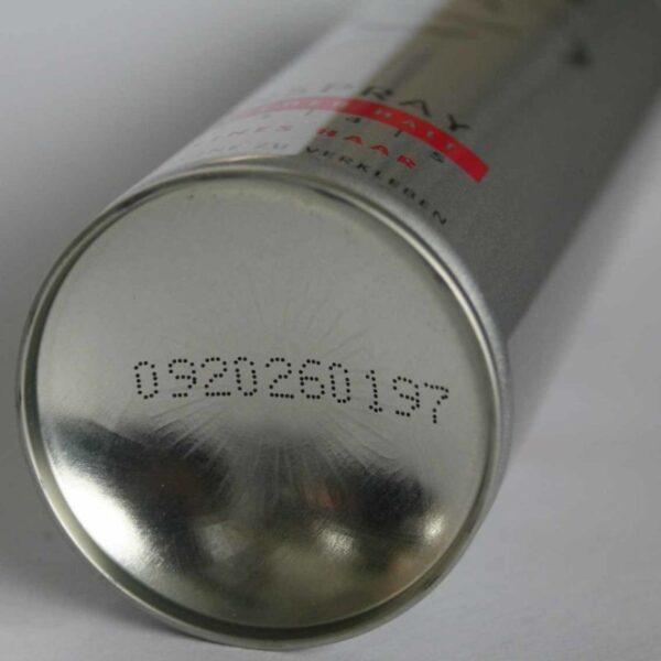 alpjaJet mustesuihkukirjoittimen jälki metallilla